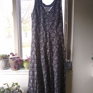 Vintage Scarlett black floral dress size 7/8